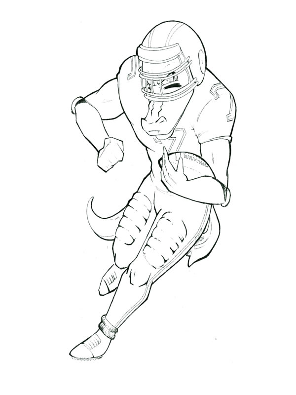coloring page gator football player